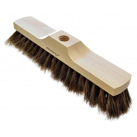 Miotła drewniana 30 cm do zamiatania włosie końskie