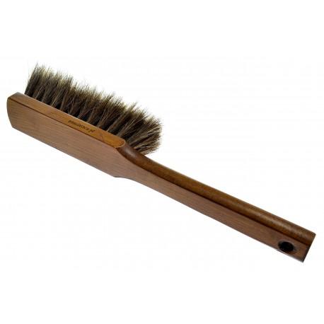 Zmiotka ręczna z naturalnym włosiem końskm kolor JASNY BRĄZ