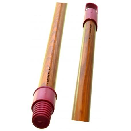 Kij drewniany 120 cm malowany jasno brązowy