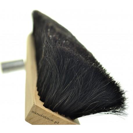 Miotła do zamiatania 60 cm z prawdziwego włosia końskiego